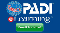 PADI e-learning enroll now